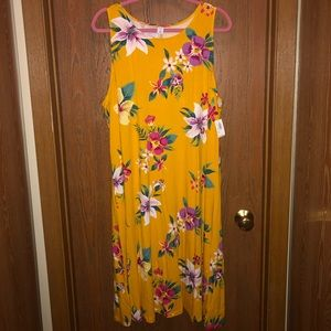 NWT Old Navy sz 3x Tropical Floral Swing Dress!!!